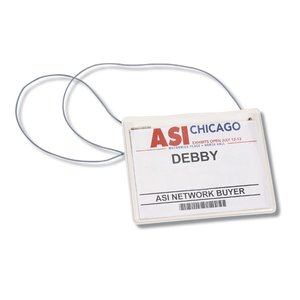 Clear Vinyl Badge Holder with Elastic Neck Cord Image 1 of 2