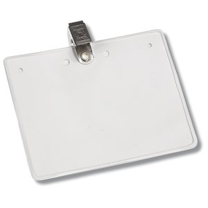 Eco-Friendly Badge Holder - Bulldog Clip Image 1 of 3