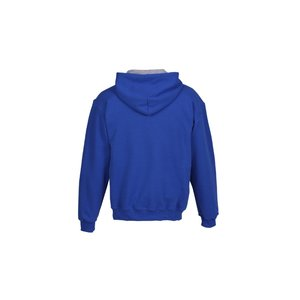 Gildan 50/50 Hooded Sweatshirt with Contrast Color - Emb Image 1 of 1