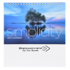 Simplicity Desk Calendar - Large Image 1 of 5