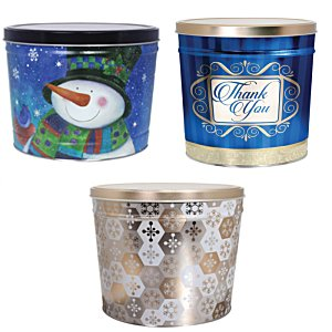 3-Way Popcorn Tin - Design - 3-1/2 Gallon