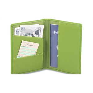 Colorplay Leather Passport Wallet