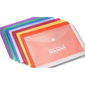 "Document Envelope with Velcro Closure - Translucent - 9"" x 13"""