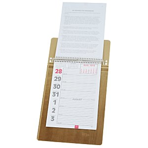 Weekly Tear Away Memo Calendar - Butcher Block Image 1 of 4