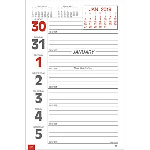 Weekly Tear Away Memo Calendar - Butcher Block Image 3 of 4