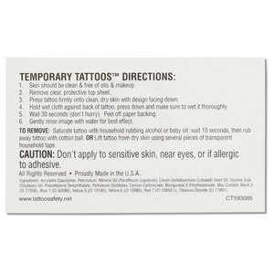 "Custom Temporary Tattoo - 1-1/2"" x 2-1/2"""