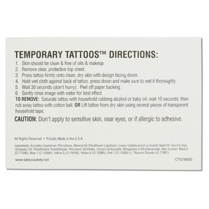 Custom Temporary Tattoo - 2