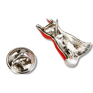 Stock Red Dress Lapel Pin Image 1 of 1