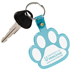 Paw Shaped Key Tag - Translucent