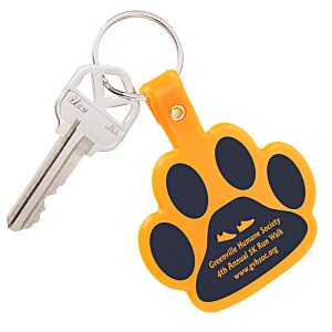 Paw Shaped Key Tag - Opaque Image 1 of 1