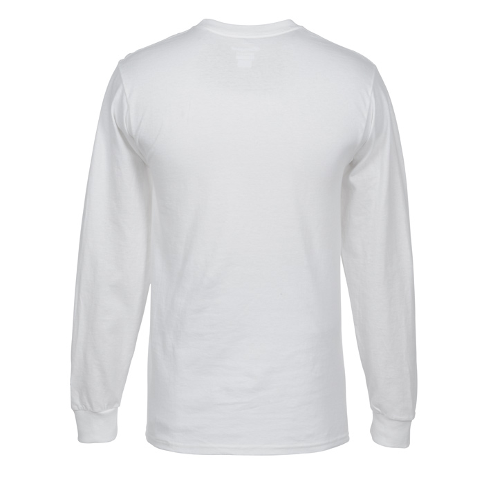 a20b9abe 4imprint.com: Champion Long-Sleeve Tagless T-Shirt - White 101548-W