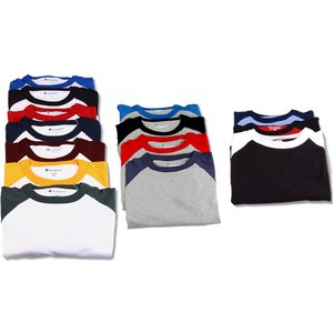 Champion Tagless Raglan Baseball Tee - Embroidered Image 2 of 2