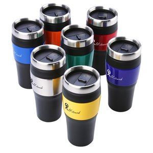 Promotional Metallic Panel Tumbler - 16 oz. Image 1 of 2