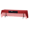 View Image 2 of 6 of Serged Open-Back Table Throw with Pocket - 8'