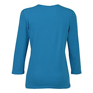 Blue Generation 3/4 Sleeve Tee - Ladies' Image 2 of 2