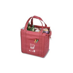 Insulated Polypropylene Grocery Tote - Market Design Image 1 of 2