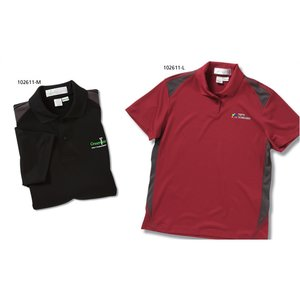 Recycled Polyester Performance Color Block Polo - Ladies' Image 2 of 2