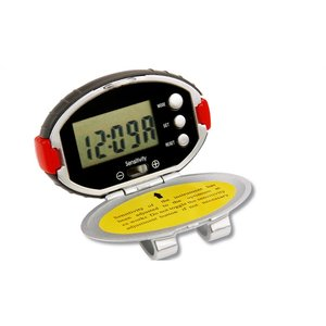 Oval Pedometer with Clock - 24 hr Image 3 of 3