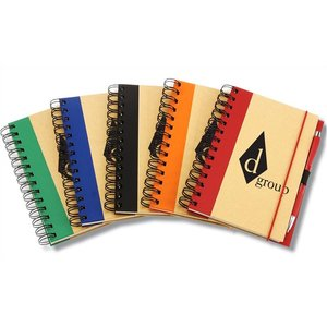 Eco Design Recycled Color Spine Spiral Notebook - 24 hr Image 1 of 1