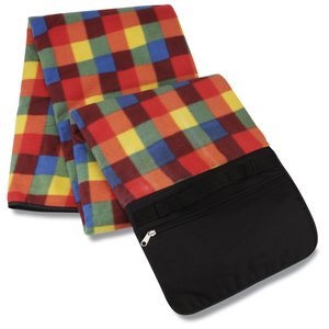 Picnic/Stadium Blanket - Orange Check Image 3 of 4