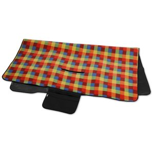 Picnic/Stadium Blanket - Orange Check Image 2 of 4