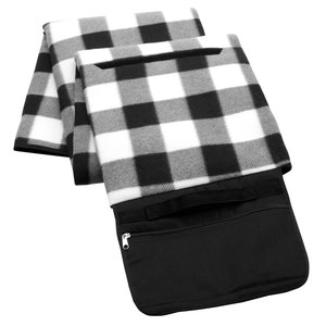 Picnic/Stadium Blanket - Black and White Check Image 1 of 4