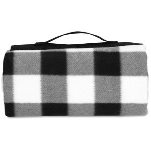 Picnic/Stadium Blanket - Black and White Check Image 2 of 4