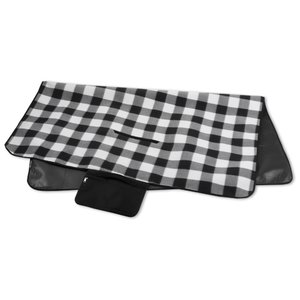 Picnic/Stadium Blanket - Black and White Check Image 3 of 4