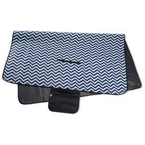 Picnic/Stadium Blanket - Navy Chevron Image 1 of 4