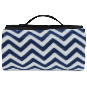 Picnic/Stadium Blanket - Navy Chevron Image 2 of 3