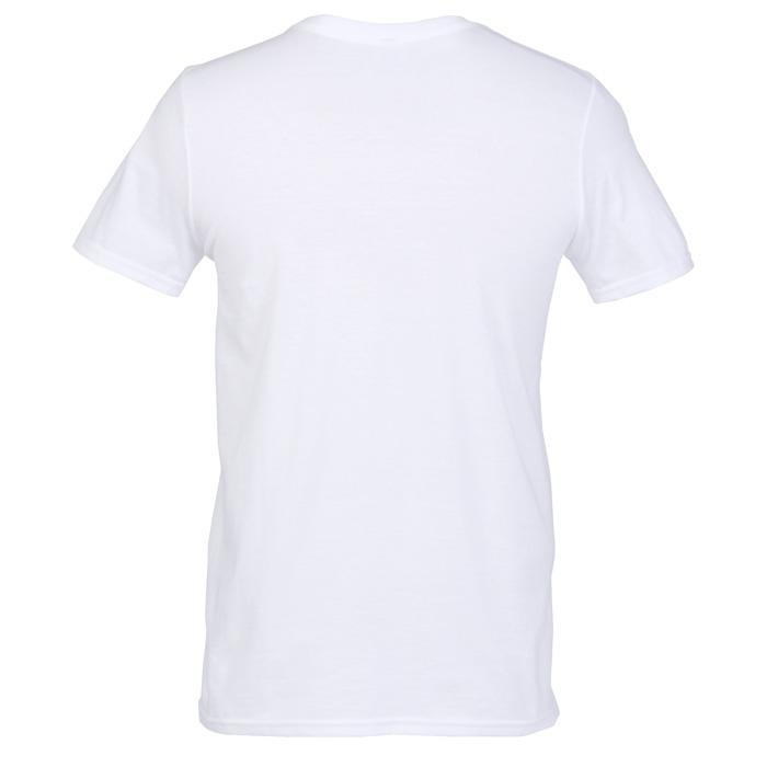 b3e863e8 4imprint.com: Gildan Softstyle V-Neck T-Shirt - Men's - White 103476-M-VN-W