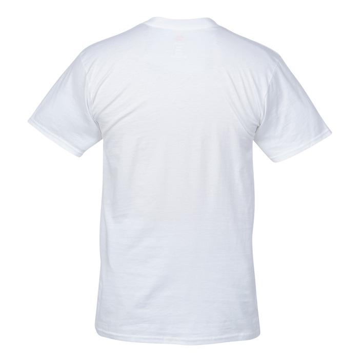Hanes Nano-T 4.5 oz. V-Neck T-Shirt - Men's - White - Embroidered ...