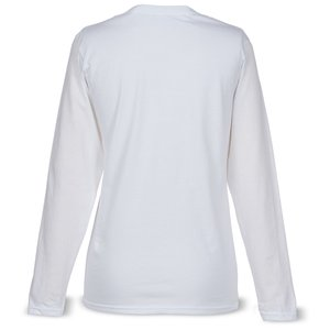 Anvil Ringspun 4.5 oz. LS T-Shirt - Ladies' - White Image 1 of 1