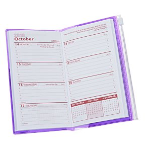 Planner w/Zip-Close Pocket - Weekly - Translucent