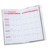 Planner with Zip-Close Pocket - Monthly -Academic - Translucent Image 1 of 2