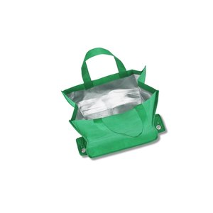 Polypropylene Shop-N-Fold Cold Tote - Market Design Image 2 of 2