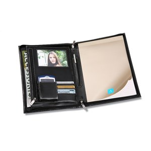 Deluxe Zippered Padfolio Image 1 of 1