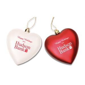 Heart Shatterproof Ornament - 4""