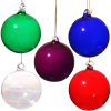 """View Image 3 of 3 of Hand Blown Glass Ornament - 3"""""""