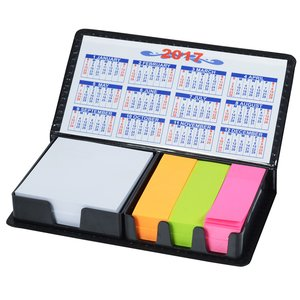 Memo Box with Adhesive Notes and Calendar Image 1 of 2