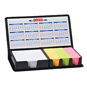 Memo Box with Adhesive Notes and Calendar Image 2 of 2