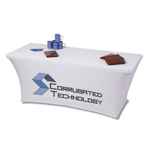 UltraFit Table Cover - 6' - Front Panel - Full Color Image 1 of 4