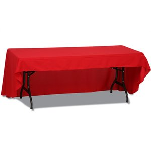 Open-Back Polyester Table Throw - 6'