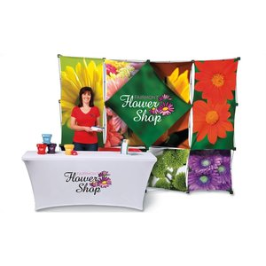 10' Geometric Dye-Sublimated Pop-Up Display Kit