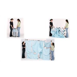10' Geometric Dye-Sublimated Pop-Up Display Kit Image 3 of 6