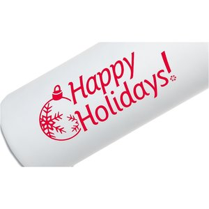 h2go Stainless Bottle - 24 oz. - Happy Holidays - White