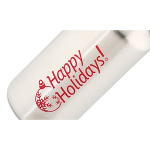 h2go Stainless Bottle - 20 oz. - Happy Holidays - Silver Image 3 of 3