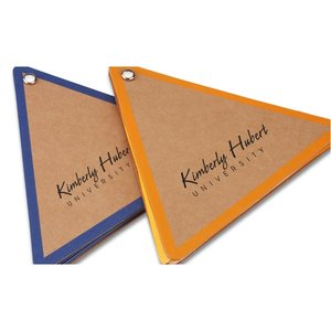 V Natural Kraft Jotter - Triangle - Closeout Image 1 of 2