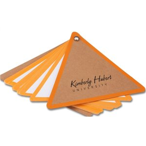 V Natural Kraft Jotter - Triangle - Closeout Image 2 of 2
