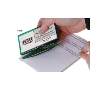 Zippy Magnetic Business Card Letter Opener – House -  Translucent Image 2 of 5